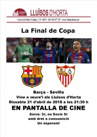 Final de la Copa del Rei - Barça vs Sevilla