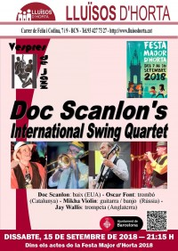Festa Major d'Horta 2018 - Jazz al carrer - Doc Scanlon's International Swing Quartet