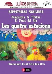 Espectacles Familiars - Les quatre estacions