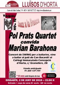 Vespres de Jazz - Pol Prats Quartet convida Marian Barahona