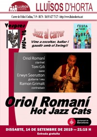 Festa Major d'Horta 2019 - Jazz al carrer - Oriol Romaní Hot Jazz Cats