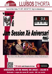 Vespres de Jazz - Jam Sessions Xè Aniversari