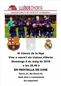 Clàssic de lliga - Barça vs Madrid