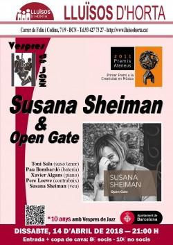 Vespres de Jazz - Susana Sheiman & Open Gate