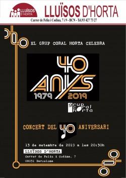Grup Coral Horta - Concert del 40è Aniversari