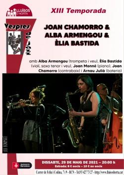 Vespres de Jazz - Joan Chamorro Trio amb Alba Armengou & Èlia Bastida
