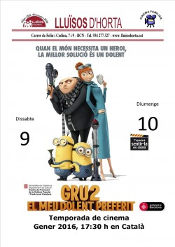 Cinema Familiar - Gru 2, el meu Dolent Preferit