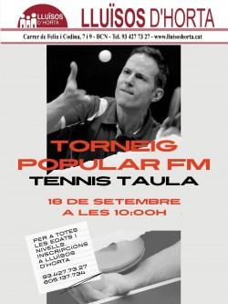 Festa Major d'Horta 2021 - Torneig popular de Tennis Taula